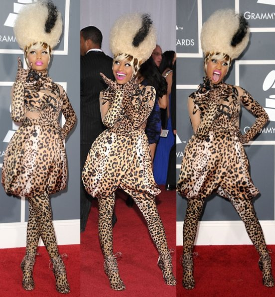 Nicki Minaj in full leopard.