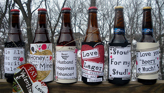 Diy do it yourself valentines gifts for him fashion gossip homemade beer labels solutioingenieria Images